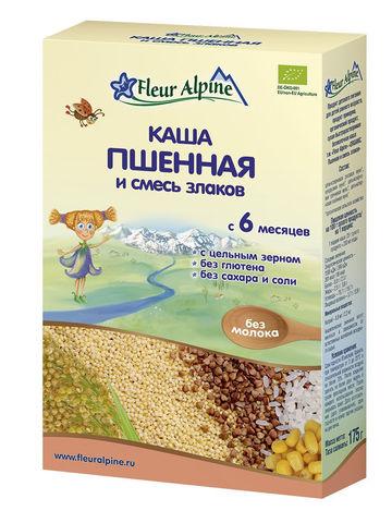 Каша пшённая и смесь злаков Органик Fleur Alpine