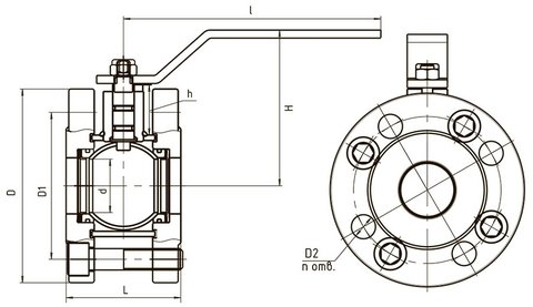 Схема компактный 11с67п LD КШ.Р.Ф.100.016.Н/П.02 Ду100 стандартный проход
