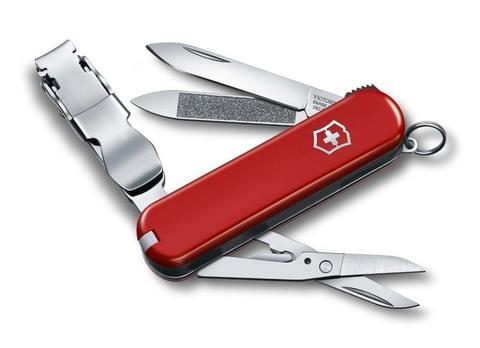 Нож-брелок VICTORINOX NailClip  65 мм, 8 функций, красный VC-0.6463