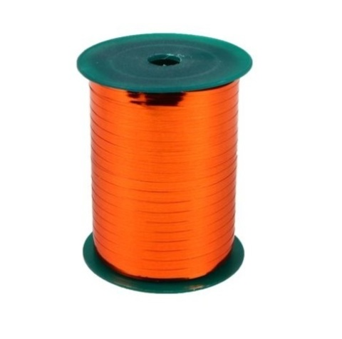 Лента металл на бобине Plastiflora (размер: 5мм х 250ярдов) Цвет:оранжевая