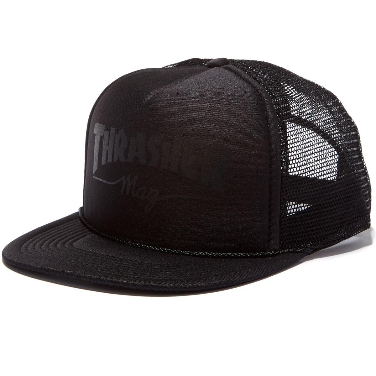 Кепка THRASHER Mag Logo Mesh (Black/Black)