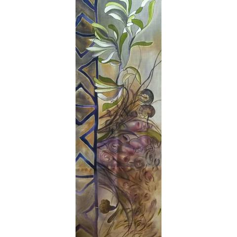 Шелковый палантин батик Какао С-51