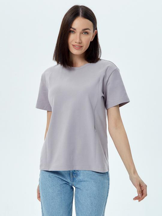 Классическая хлопковая футболка Chic mama для кормящих мам