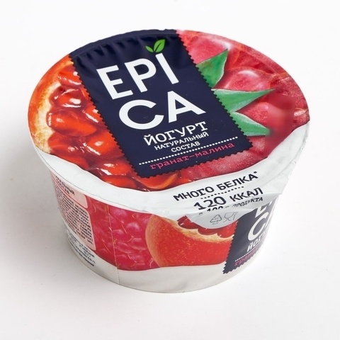"Йогурт ""Epica"" гранат-малина 130г"