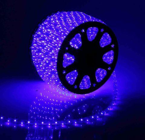Дюралайт светодиодный, чейзинг, 13мм - 3 жилы - 36 led/m, Синий - 100м