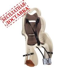 Велокресло для детей HTP SANBAS T (бежевое), крепление к подседельной трубе