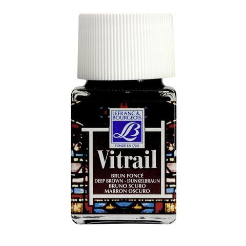Краска по стеклу Lefranc&Bourgeois VETRAIL 50 мл 102, насыщенный коричневый