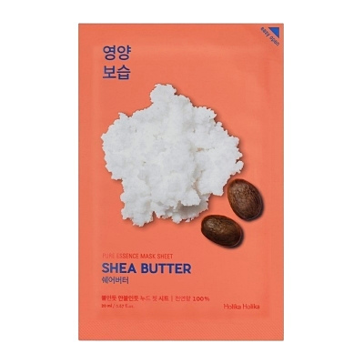 Питательная тканевая маска с маслом Ши Holika Holika Shea Butter Pure Essence Mask Sheet