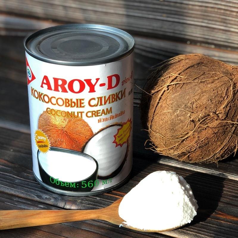 Фотография Кокосовые сливки Aroy-D 70% / 560 мл купить в магазине Афлора