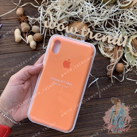 Чехол iPhone XS Max Silicone Case Full /papaya/ папая