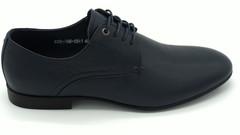 Синие полуботинки на шнурках