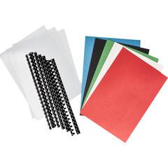 Стартовый набор для переплета ProfiOffice (пружины пластиковые, обложки пластиковые прозрачные, обложки картонные с тиснением под кожу)