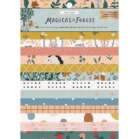 Набор односторонней бумаги Magical Forest от Crate Paper -15х20см - 24 листа
