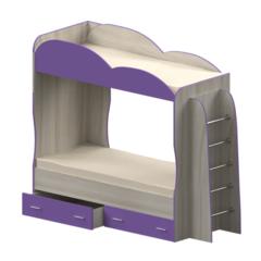 Кровать детская двухъярусная Индиго, фиолетовая