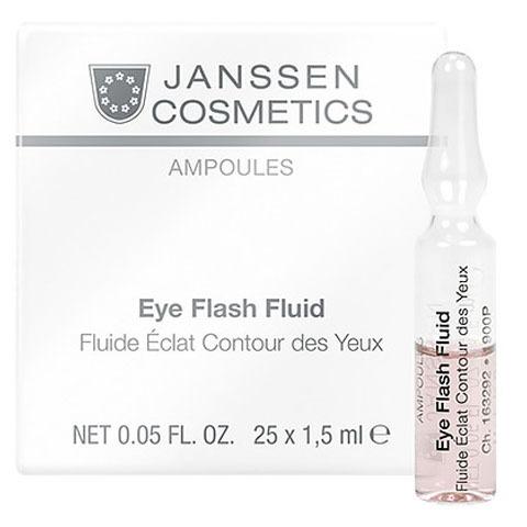 Janssen Ampoules: Увлажняющая и восстанавливающая сыворотка в ампулах для контура глаз (Eye Flash Fluid)