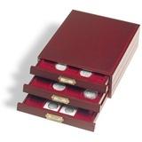Элегантная деревянная кассета LIGNUM, на 30 круглых ячеек D 39 mm (CAPS33),