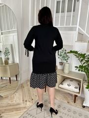 Ауріка. Нарядна комбінована сукня для жінок. Чорний