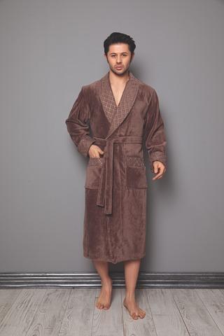 Мужской махровый халат 15160 Турция