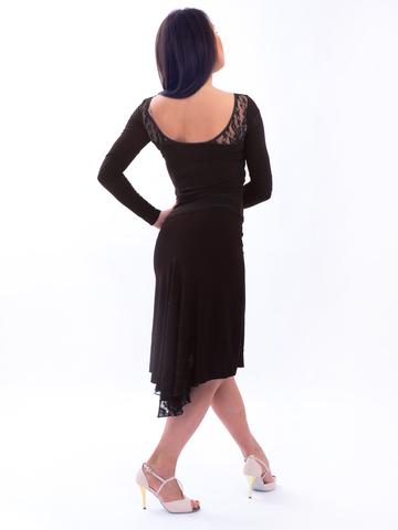 Юбка для танго с гипюром