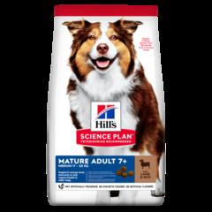 Корм для собак от 7 лет Hill`s Science Plan Mature Adult 7+ Active Longevity Medium, с ягненком и рисом