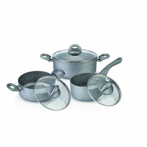 Набор посуды 6 пр. MOON STONE (алюминий)