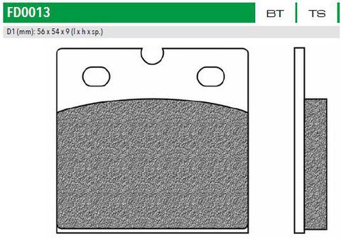 FD0013BT Тормозные колодки для APRILIA, BMW, DUCATI, TRIUMPH (FDB108)