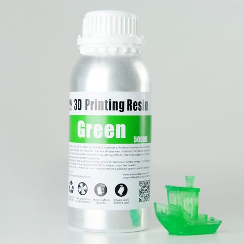 Фотополимер Wanhao Standard Resin, зелёный (500 мл)