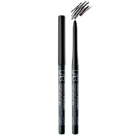 Карандаш для глаз LAB colour Perfect Eyeliner Long Lasting 12h контурный механический тон 01 черный матовый , ( Белита )