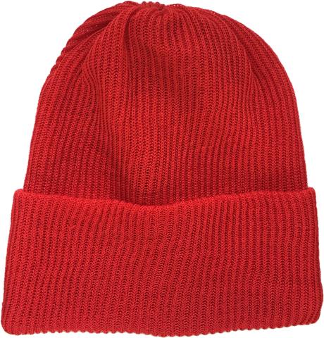 Красная шапка бини демисезонная