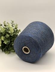 Вискоза с люрексом  Fashion Mill P 9949 P 3500  бежево-джинсовый оттенок с синим электрик напылением