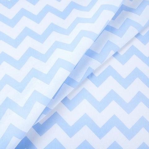 Бязь плательная 150 см 1692 цвет голубой