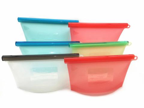 Пищевой силиконовый многоразовый пакет (1 литр)