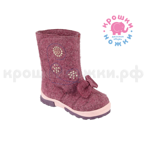 Валенки розовый бант, Шаговита 18СМФ 10106