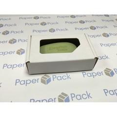 Коробка 11.5х7х3.2 см, гофрокартон, c окошком, без угла - 25 шт(упак)