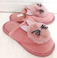 Комнатные тапочки зайчики PR 129  Pink
