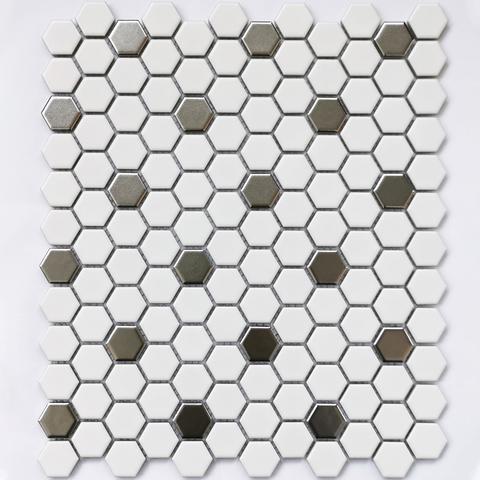 Мозаика керамическая Babylon Silver matt 260х300