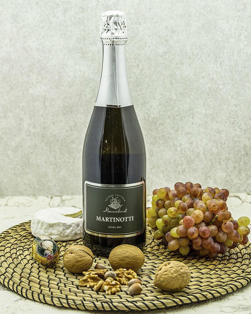 Вино Игристое Manuelina Мартинотти Пино Неро Белое Экстра Брют 11,5% 0,75 л.