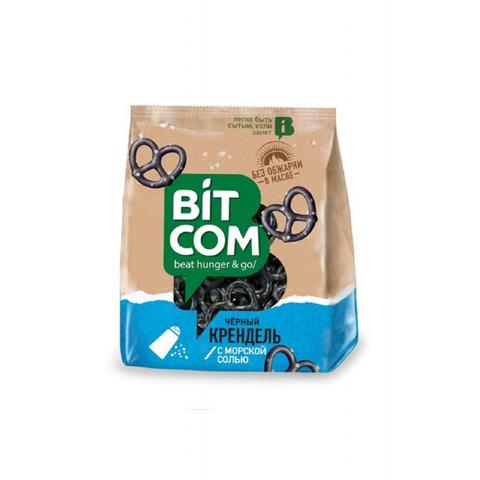 Сушки Крендель чёрный с морской солью Bitcom, 130г