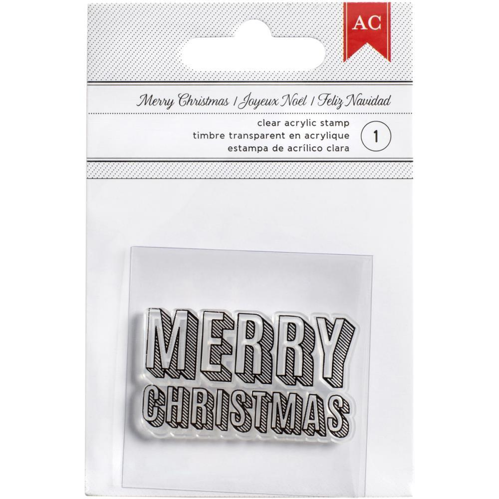 Штамп Merry Christmas