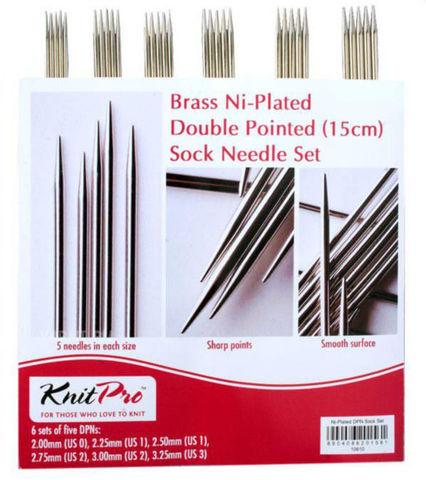 KnitPro Набор чулочных спиц Nova Metal длиной 15 см 10651