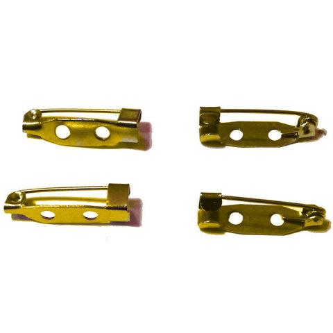 Основа для броши - булавка 25 мм. 2 отверстия цвет золото
