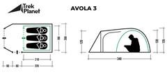 Палатка Trek Planet Avola 3 - 2