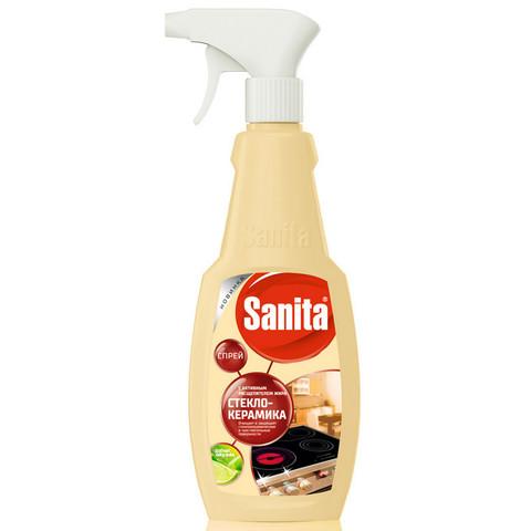 Средство для чистки плит Sanita Антижир для стеклокерамики 500 мл