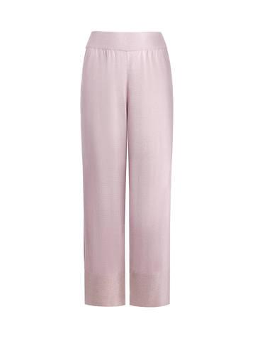 Женские брюки-клеш светло-розового цвета из шелка и вискозы - фото 1