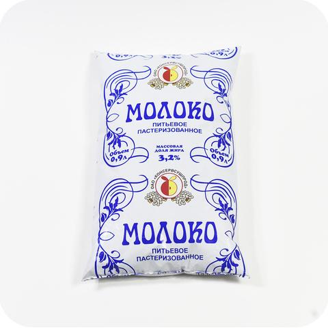 Молоко 3,2% пакет г. Стародуб