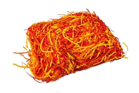 Наполнитель флористический бумажный 50г микс красный/оранжевый/желтый