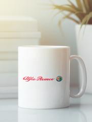 Кружка с рисунком Альфа Ромео (Alfa Romeo) белая 006
