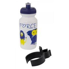 Велобутылка FORCE, ZOO с держателем 0,3л, детский принт, белый