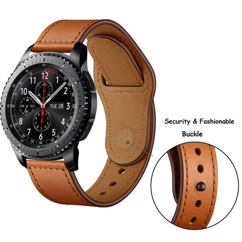 Кожаный ремешок 22мм (коричневый) Fohuas Leather Loop для Samsung Gear S3/Galaxy Watch 46