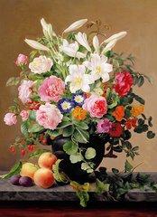 Картина раскраска по номерам 30x40 Натюрморт с персиками